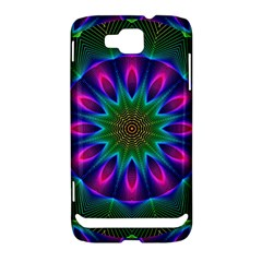 Star Of Leaves, Abstract Magenta Green Forest Samsung Ativ S i8750 Hardshell Case