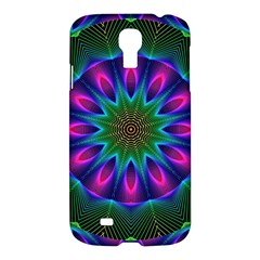 Star Of Leaves, Abstract Magenta Green Forest Samsung Galaxy S4 I9500/i9505 Hardshell Case