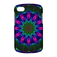 Star Of Leaves, Abstract Magenta Green Forest BlackBerry Q10 Hardshell Case