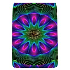 Star Of Leaves, Abstract Magenta Green Forest Removable Flap Cover (Small)