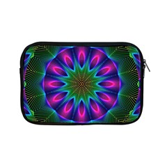 Star Of Leaves, Abstract Magenta Green Forest Apple iPad Mini Zippered Sleeve