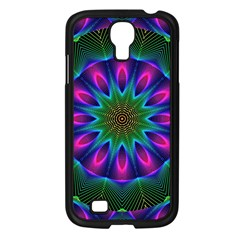 Star Of Leaves, Abstract Magenta Green Forest Samsung Galaxy S4 I9500/ I9505 Case (Black)