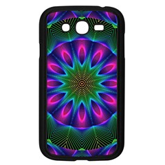 Star Of Leaves, Abstract Magenta Green Forest Samsung Galaxy Grand DUOS I9082 Case (Black)
