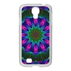 Star Of Leaves, Abstract Magenta Green Forest Samsung Galaxy S4 I9500/ I9505 Case (white)
