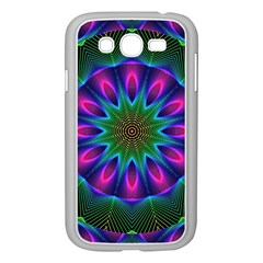 Star Of Leaves, Abstract Magenta Green Forest Samsung Galaxy Grand DUOS I9082 Case (White)