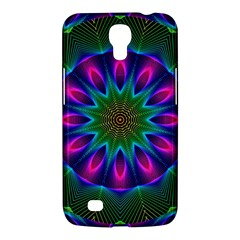 Star Of Leaves, Abstract Magenta Green Forest Samsung Galaxy Mega 6.3  I9200 Hardshell Case