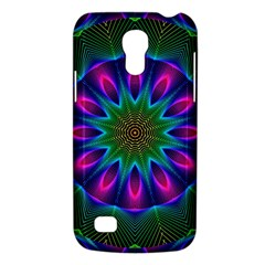 Star Of Leaves, Abstract Magenta Green Forest Samsung Galaxy S4 Mini (GT-I9190) Hardshell Case