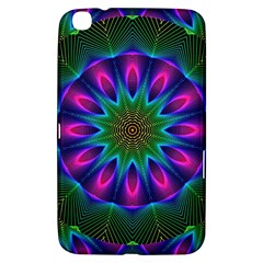 Star Of Leaves, Abstract Magenta Green Forest Samsung Galaxy Tab 3 (8 ) T3100 Hardshell Case
