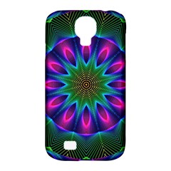 Star Of Leaves, Abstract Magenta Green Forest Samsung Galaxy S4 Classic Hardshell Case (PC+Silicone)