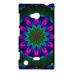 Star Of Leaves, Abstract Magenta Green Forest Nokia Lumia 720 Hardshell Case