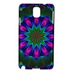 Star Of Leaves, Abstract Magenta Green Forest Samsung Galaxy Note 3 N9005 Hardshell Case