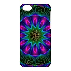 Star Of Leaves, Abstract Magenta Green Forest Apple iPhone 5C Hardshell Case