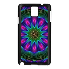 Star Of Leaves, Abstract Magenta Green Forest Samsung Galaxy Note 3 N9005 Case (Black)