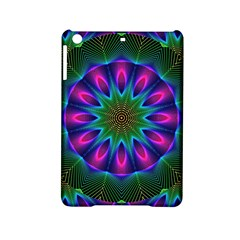 Star Of Leaves, Abstract Magenta Green Forest Apple iPad Mini 2 Hardshell Case