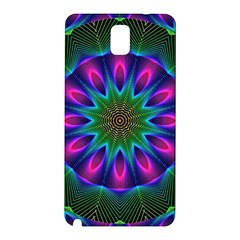 Star Of Leaves, Abstract Magenta Green Forest Samsung Galaxy Note 3 N9005 Hardshell Back Case