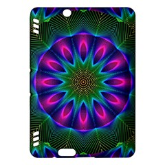 Star Of Leaves, Abstract Magenta Green Forest Kindle Fire HDX 7  Hardshell Case