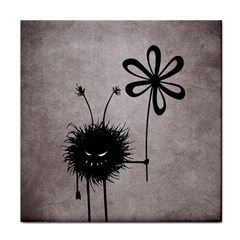 Evil Flower Bug Vintage Ceramic Tile