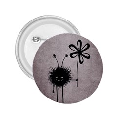 Evil Flower Bug Vintage 2 25  Button