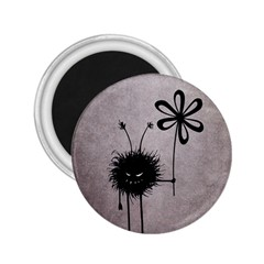 Evil Flower Bug Vintage 2.25  Button Magnet