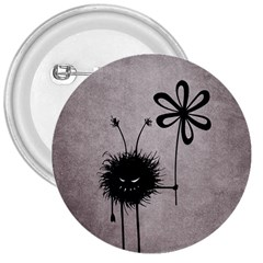 Evil Flower Bug Vintage 3  Button
