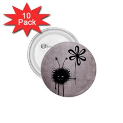 Evil Flower Bug Vintage 1.75  Button (10 pack)