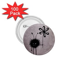 Evil Flower Bug Vintage 1.75  Button (100 pack)