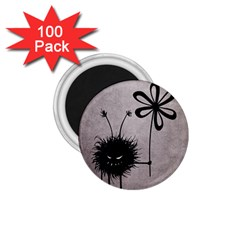 Evil Flower Bug Vintage 1.75  Button Magnet (100 pack)
