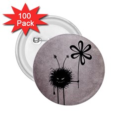 Evil Flower Bug Vintage 2 25  Button (100 Pack)