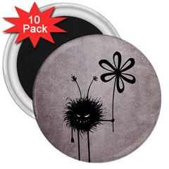 Evil Flower Bug Vintage 3  Button Magnet (10 pack)