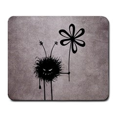 Evil Flower Bug Vintage Large Mouse Pad (Rectangle)