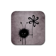 Evil Flower Bug Vintage Drink Coaster (Square)