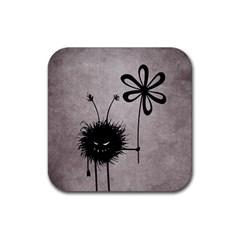 Evil Flower Bug Vintage Drink Coasters 4 Pack (square)