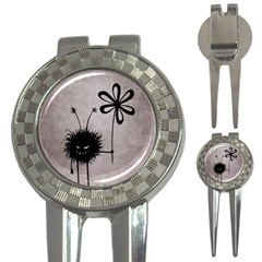 Evil Flower Bug Vintage Golf Pitchfork & Ball Marker