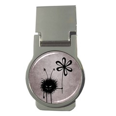 Evil Flower Bug Vintage Money Clip (round)