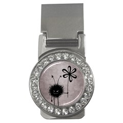 Evil Flower Bug Vintage Money Clip (cz)