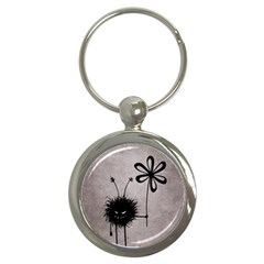 Evil Flower Bug Vintage Key Chain (round)