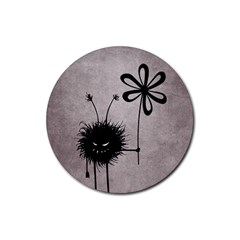 Evil Flower Bug Vintage Drink Coaster (round)