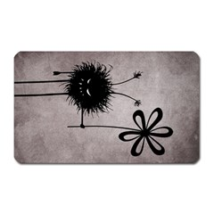 Evil Flower Bug Vintage Magnet (Rectangular)