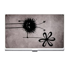 Evil Flower Bug Vintage Business Card Holder