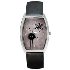 Evil Flower Bug Vintage Tonneau Leather Watch