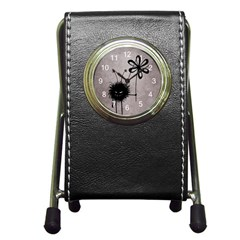 Evil Flower Bug Vintage Stationery Holder Clock