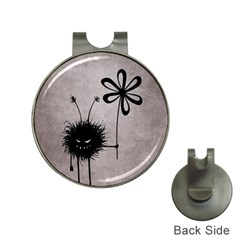 Evil Flower Bug Vintage Hat Clip with Golf Ball Marker