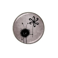 Evil Flower Bug Vintage Golf Ball Marker 4 Pack (for Hat Clip)