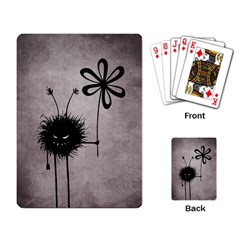 Evil Flower Bug Vintage Playing Cards Single Design