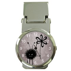 Evil Flower Bug Vintage Money Clip with Watch