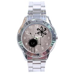Evil Flower Bug Vintage Stainless Steel Watch
