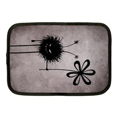 Evil Flower Bug Vintage Netbook Sleeve (Medium)