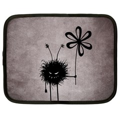 Evil Flower Bug Vintage Netbook Sleeve (Large)