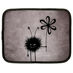 Evil Flower Bug Vintage Netbook Sleeve (XXL)