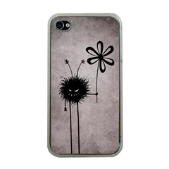 Evil Flower Bug Vintage Apple iPhone 4 Case (Clear)